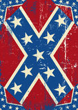 Fondo del grunge de Confederatre Imagen de archivo libre de regalías
