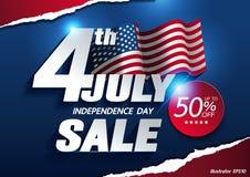 Fondo del grunge de la independencia Day stock de ilustración