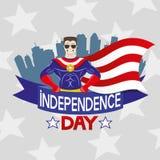 Fondo del grunge de la independencia Day Imagen de archivo
