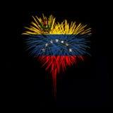 Fondo del grunge de la independencia Day Recepción a Venezuela Imagen de archivo libre de regalías