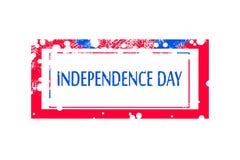 Fondo del grunge de la independencia Day sello para el 4 de julio o el 15 de agosto Imagen de archivo libre de regalías