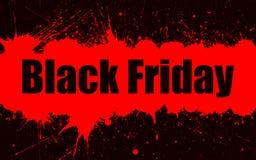 Fondo del grunge de la pintura del vector para la venta de Black Friday Imagenes de archivo