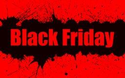 Fondo del grunge de la pintura del vector para la venta de Black Friday Fotografía de archivo