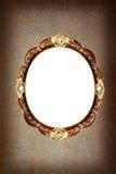 Fondo del Grunge de la pátina con el marco del óvalo del vintage Foto de archivo libre de regalías