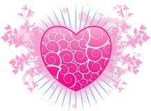 Fondo del grunge de la tarjeta del día de San Valentín Imagenes de archivo