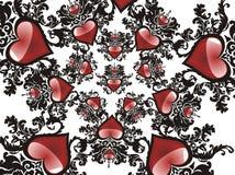 Fondo del grunge de la tarjeta del día de San Valentín Foto de archivo