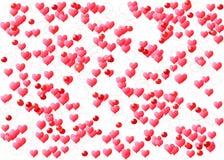 Fondo del grunge de la tarjeta del día de San Valentín Fotos de archivo libres de regalías