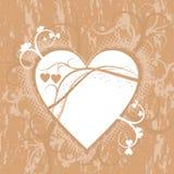 Fondo del grunge de la tarjeta del día de San Valentín, vector Fotografía de archivo libre de regalías