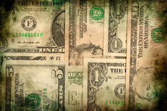Fondo del grunge de la textura de los billetes de banco del dinero del dólar de los E.E.U.U. Foto de archivo libre de regalías