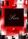 Fondo del grunge de las tarjetas del día de San Valentín Imagen de archivo libre de regalías