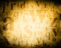 Fondo del grunge del alfabeto Imagen de archivo