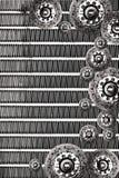 Fondo del grunge del radiador de la placa de embrague Fotografía de archivo