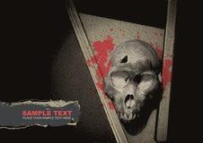 Fondo del grunge del vector con un esqueleto Fotos de archivo