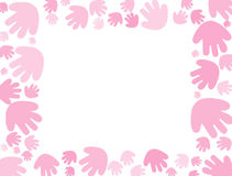 Fondo del handprint del color de rosa de bebé Fotos de archivo