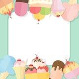 Fondo del helado del verano Stock de ilustración