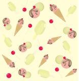 Fondo del helado y de la cereza ilustración del vector