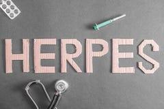 Fondo del herpes foto de archivo