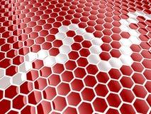 Fondo del hexágono de la célula Imagen de archivo