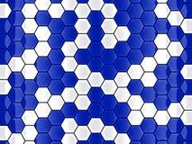 Fondo del hexágono de la célula Fotos de archivo libres de regalías
