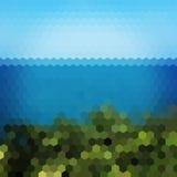 Fondo del hexágono del paisaje stock de ilustración