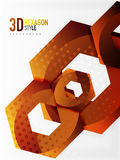 Fondo del hexágono del vector 3d Fotografía de archivo libre de regalías