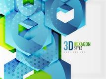 Fondo del hexágono del vector 3d Imagenes de archivo