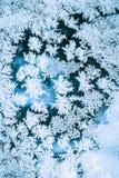 Fondo del hielo, modelo escarchado azul natural Fotografía de archivo libre de regalías
