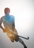 Fondo del hockey su prato Fotografia Stock