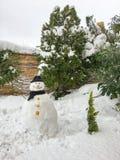 Fondo del hombre de la nieve Fotos de archivo libres de regalías