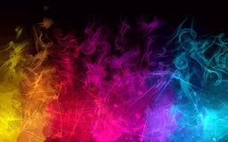 Fondo del humo del arco iris Versión del vector stock de ilustración