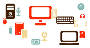 Fondo del icono del ordenador del web libre illustration