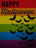 Fondo del icono del palo del fantasma del feliz Halloween Fotos de archivo libres de regalías