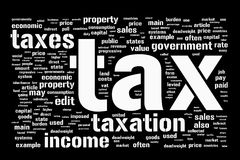 Fondo del impuesto Fotos de archivo
