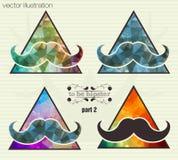 Fondo del inconformista con un bigote libre illustration