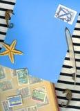 Fondo del infante de marina de la vendimia Foto de archivo libre de regalías