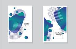 Fondo del informe de la cubierta y diseño del folleto con el elemento geométrico de los extractos ilustración del vector
