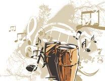 Fondo del instrumento de música Fotos de archivo