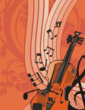 Fondo del instrumento de música Fotos de archivo libres de regalías