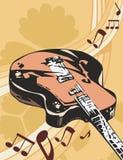 Fondo del instrumento de música Fotografía de archivo libre de regalías