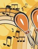 Fondo del instrumento de música stock de ilustración