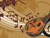 Fondo del instrumento de música Imágenes de archivo libres de regalías
