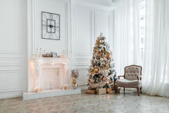 Fondo del interior de la Navidad y del Año Nuevo Imágenes de archivo libres de regalías