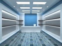 Fondo del interior del almacén del departamento ilustración del vector