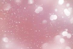 Fondo del invierno del Año Nuevo de la Navidad con nieve que cae pintada Foto de archivo