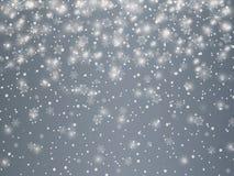 Fondo del invierno con día de fiesta del vector del vintage de los copos de nieve libre illustration