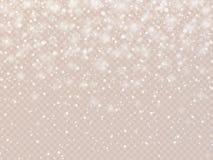 Fondo del invierno con día de fiesta del vector del vintage de los copos de nieve stock de ilustración