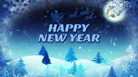 Fondo del invierno con Feliz Año Nuevo del texto libre illustration