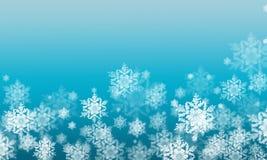 Fondo del invierno con las escamas de la nieve Fotografía de archivo libre de regalías