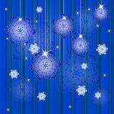 Fondo del invierno con los copos de nieve Imágenes de archivo libres de regalías