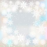 Fondo del invierno con los copos de nieve Fotografía de archivo libre de regalías